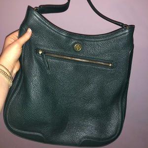 Tory Burch Dark Green Bucket Bag